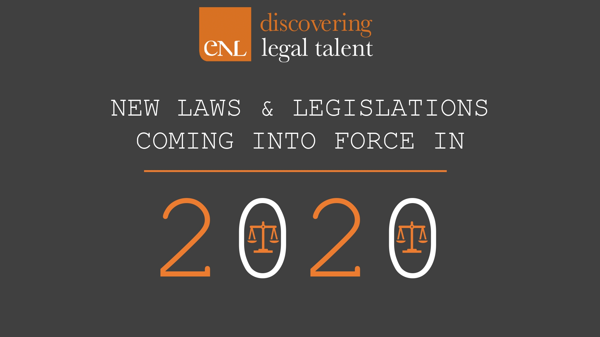 20 New Laws For 2020